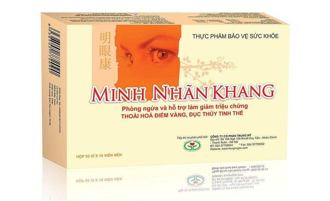 Minh Nhãn Khang – Viên uống chăm sóc mắt sáng khỏe cho mọi độ tuổi